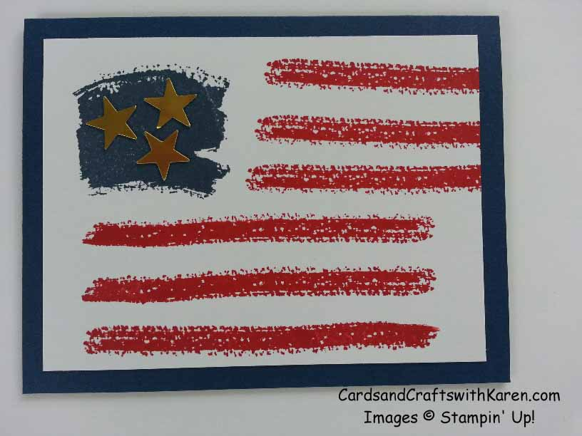 flag card for july4th