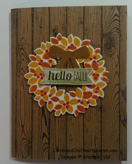 Hardwood Fall Wreath card