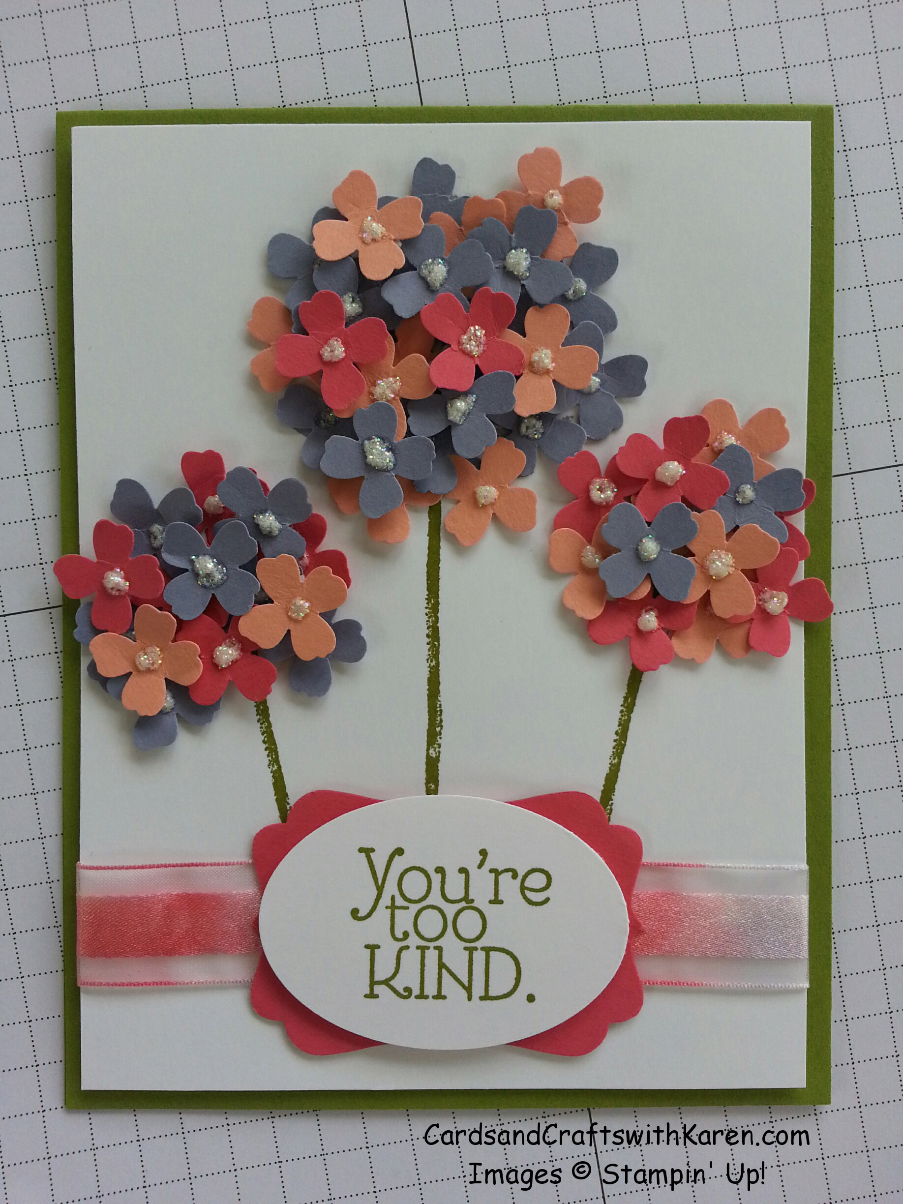 April showers = May flowers! | Cards and Crafts with Karen