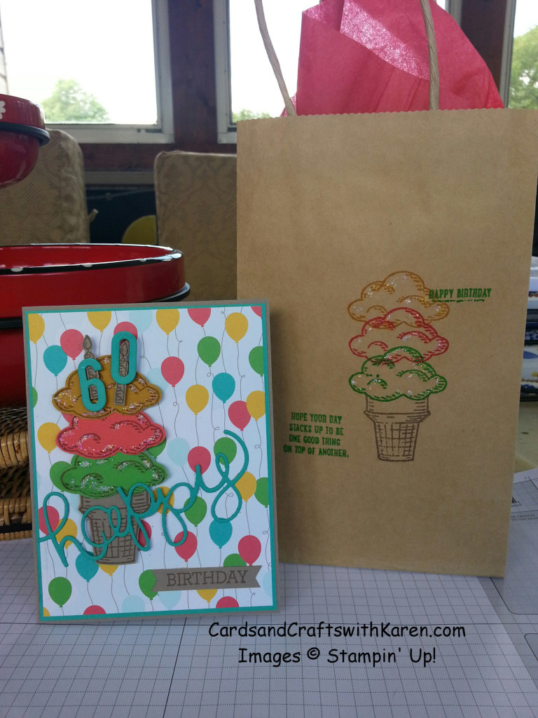 Walt's birthday card and bag
