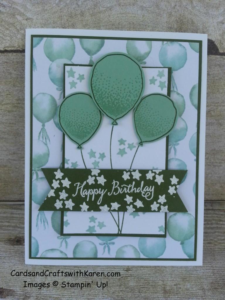 Mint Balloons Card