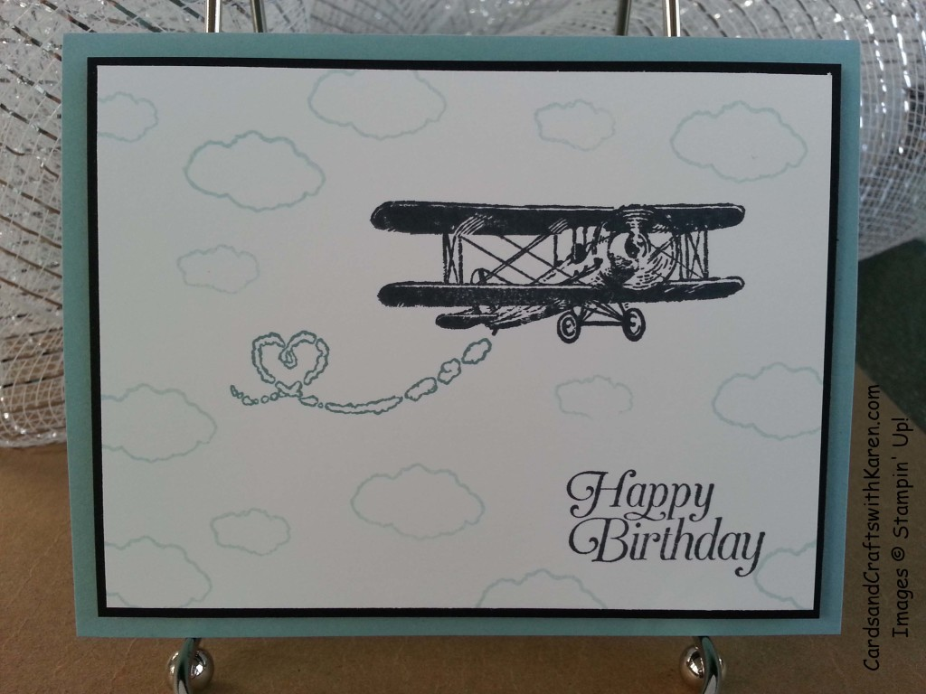 Simple Saturday Plane Card