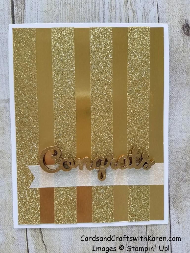 Gold Glitter tape card