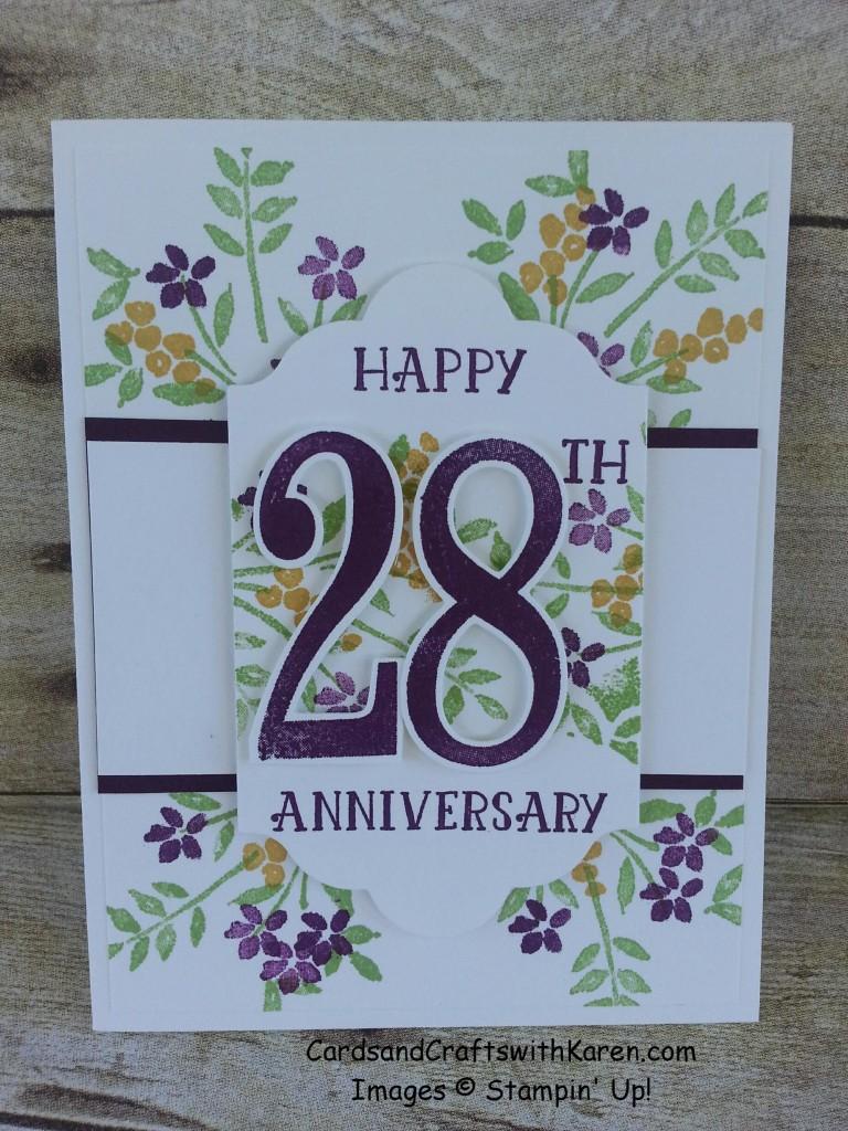 Happy 28 Anniv card
