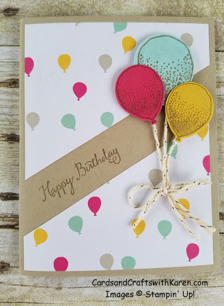 Balloon 4 square card