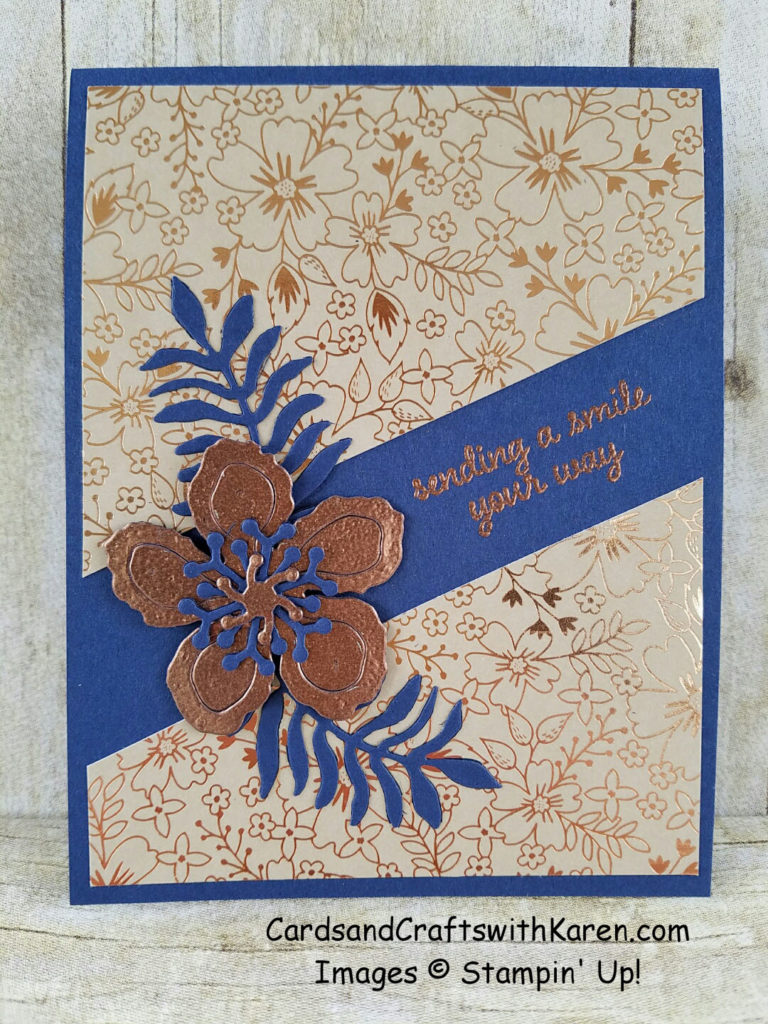 Copper Flower card
