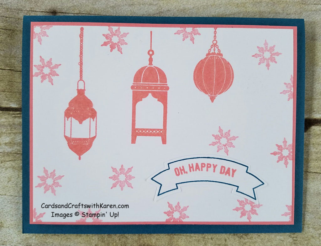 Moroccan denim pink card