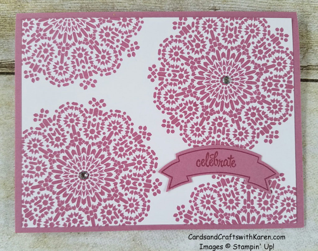 Moroccan sugarplum card