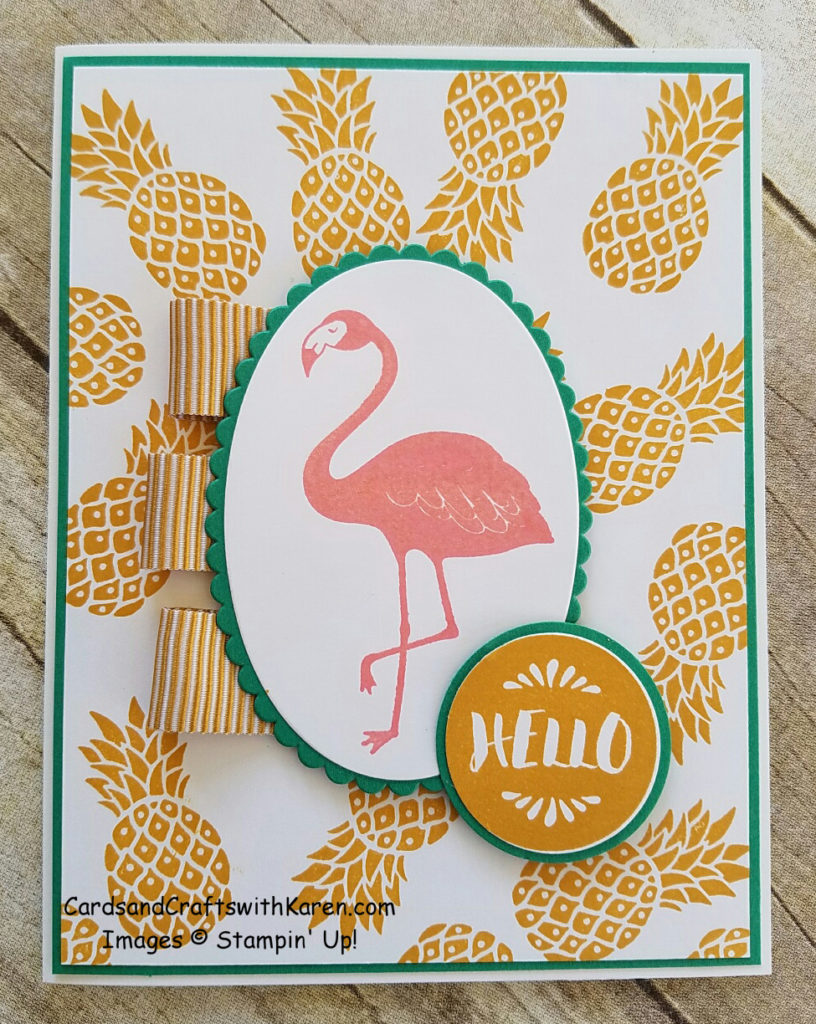 Pink Flamingo Card