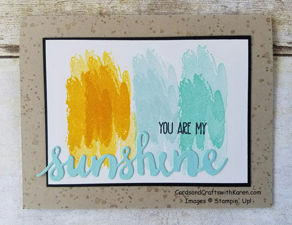 Sunshine stamped card