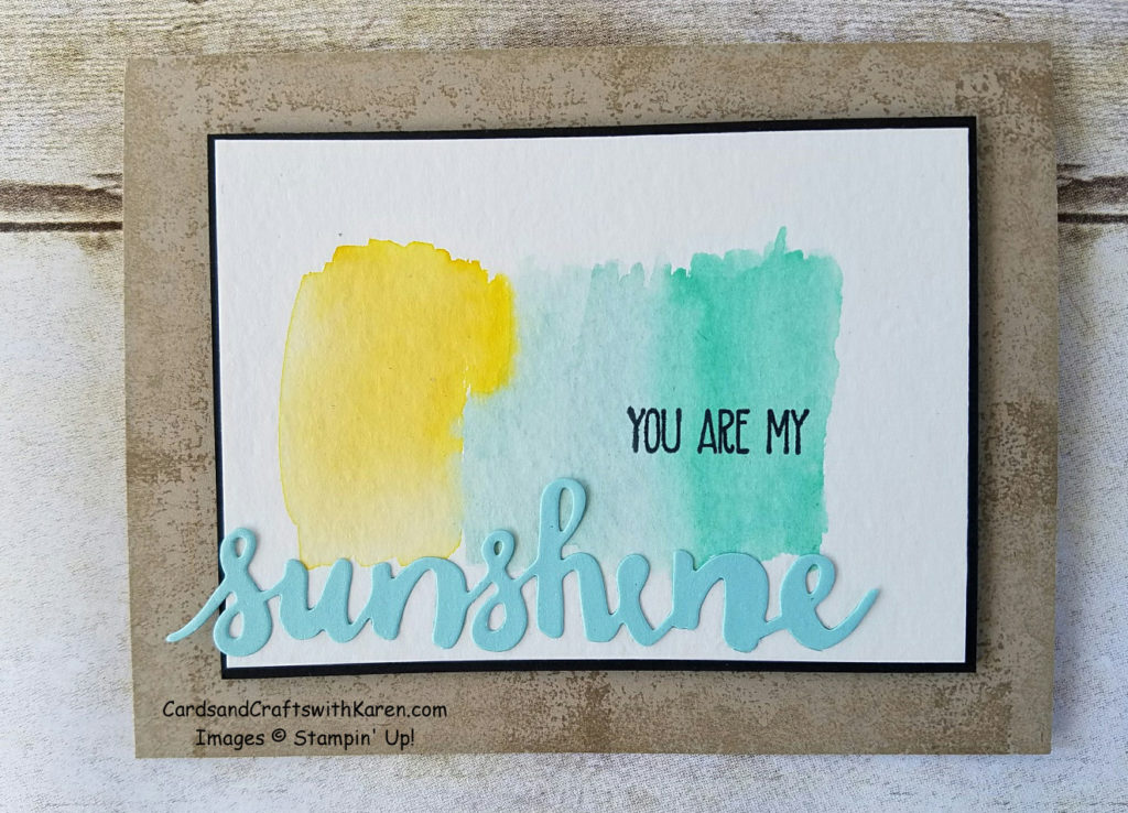 Sunshine watercolor card