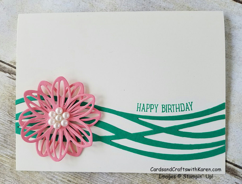 Flirty Flamingo Flower Card