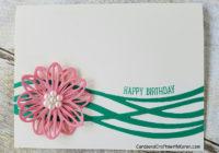 Flirty Flamingo Flower Card