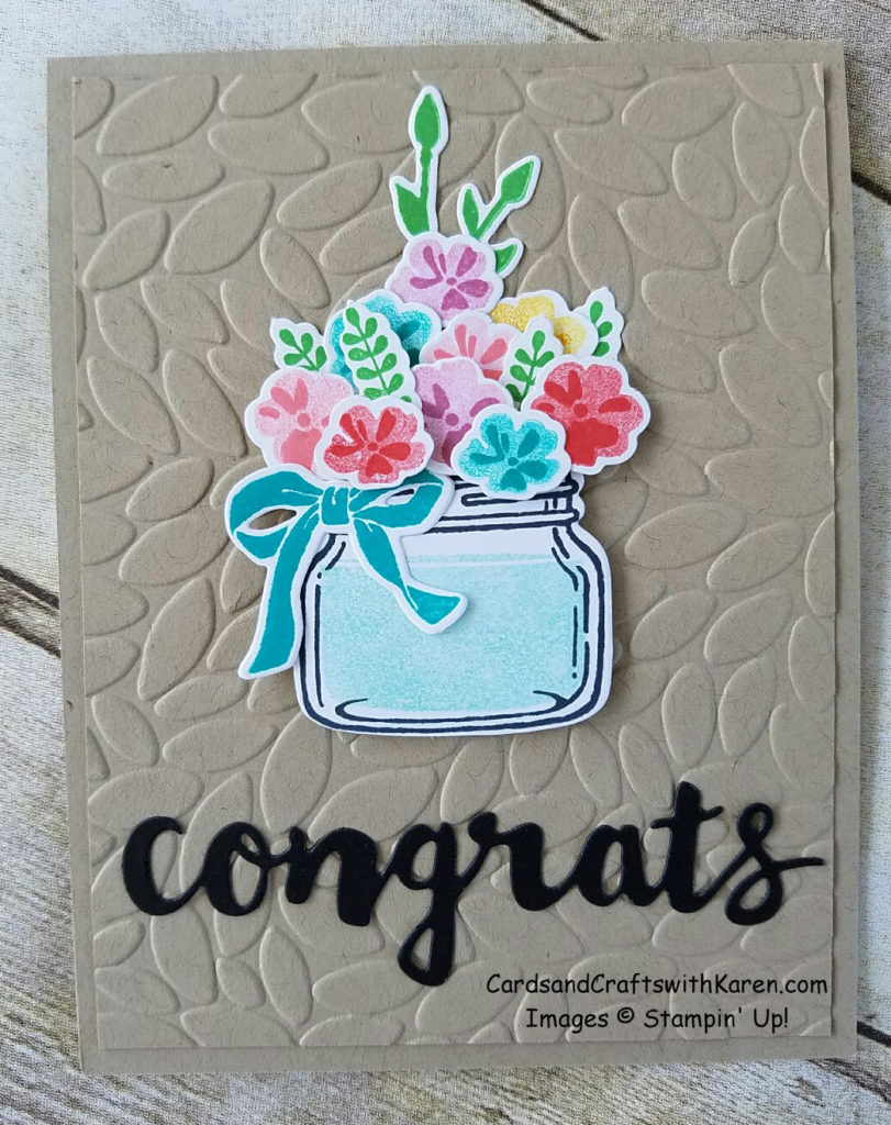 Jar of Love Congrats Card