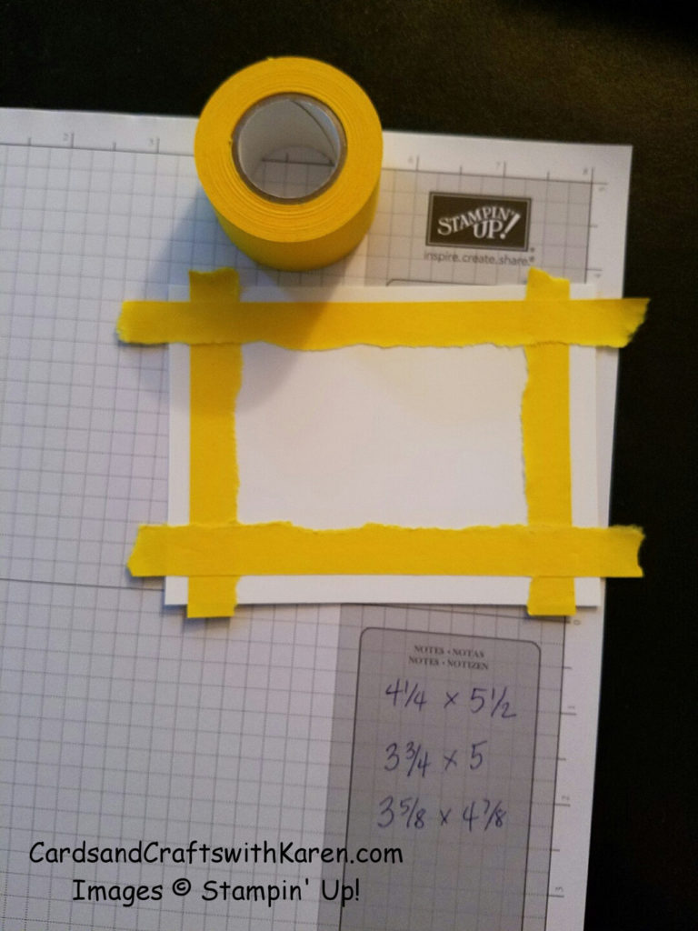 Masking tape template