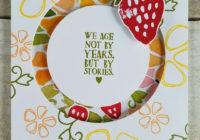 Strawberry Spinner Card