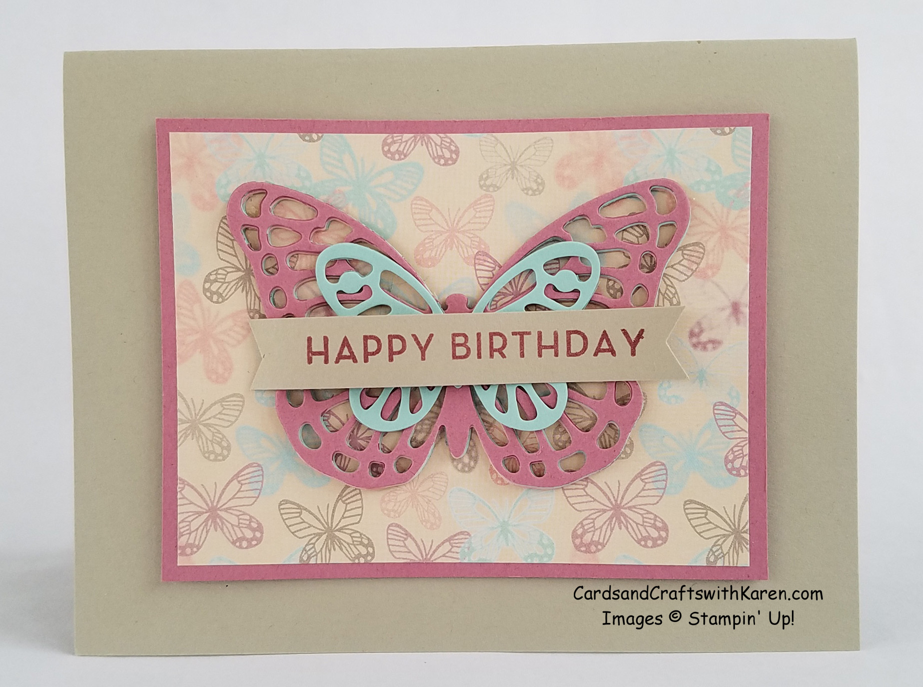 Butterfly Layers Card Cards And Crafts With Karen