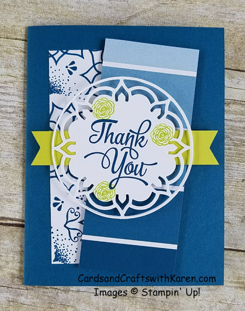 Old meets New with a Dapper Denim Thank You   Cards and Crafts with