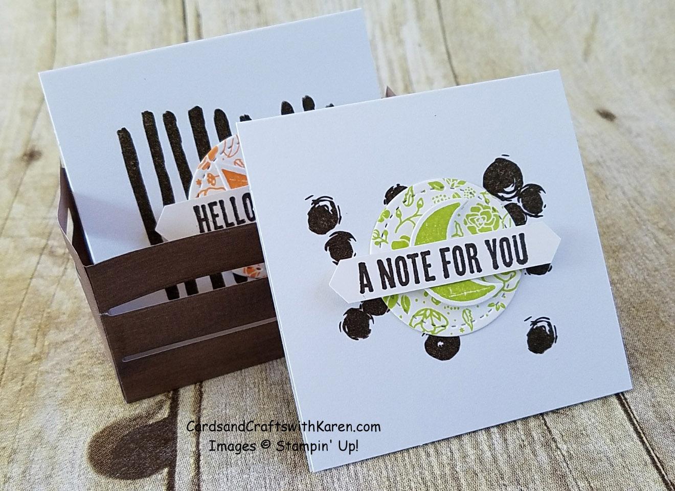WOOD CRATE FRAMELITS /& WOOD TEXTURES MINI DESIGNER PAPER Stampin/'Up WOOD WORDS